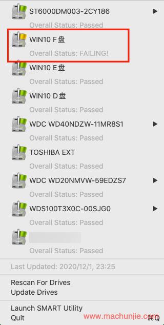 Mac端自动监控硬盘的S.M.A.R.T.信息